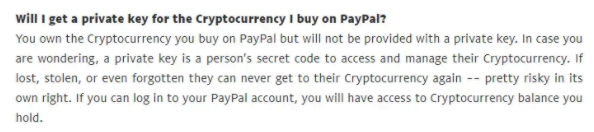 Paypal policy on Bitcoin