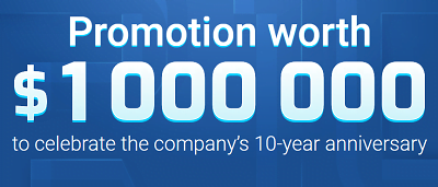 RoboForex broker 10 Year Promotion